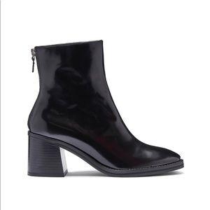 Miista Cybil black patent bootie